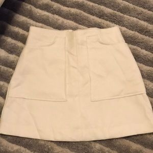 White Forever 21 Mini Skirt